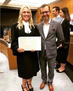 Assermentation de Camille Curodeau avocate pénal et statuaire Longueuil Rive-Sud Montréal